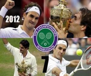 2012 Wimbledon Champion Roger Federer puzzle