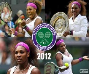 2012 Wimbledon Champion Serena Williams puzzle