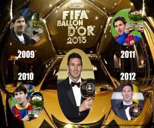 2015 FIFA Ballon d'Or puzzle