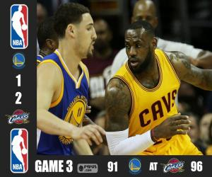 2015 NBA The Finals, Game 3 puzzle
