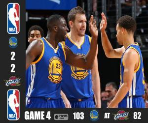 2015 NBA The Finals, Game 4 puzzle