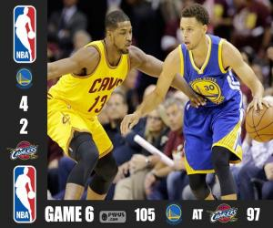 2015 NBA The Finals, Game 6 puzzle