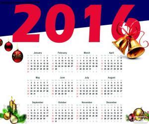 2016 calendar puzzle