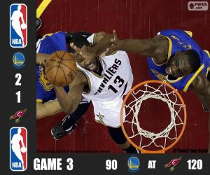 2016 NBA The Finals, Game 3 puzzle