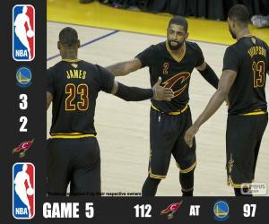 2016 NBA The Finals, Game 5 puzzle