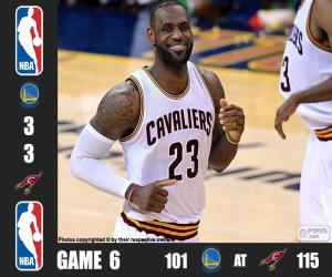 2016 NBA The Finals, Game 6 puzzle