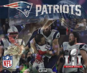2017 Super Bowl, Patriots puzzle