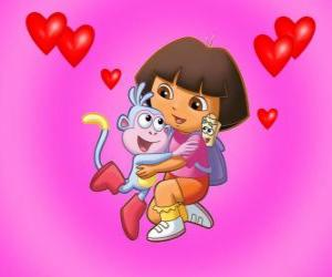 Dora Marquez The Explorer With Her Best Friends Boots The Monkey