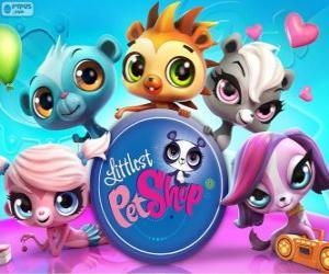 5 pets of Littlest PetShop puzzle