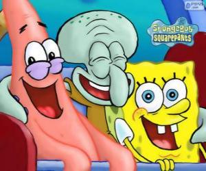 SpongeBob SquarePants and his friends Patrick Star and Squidward Tentacles puzzle