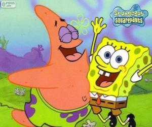 SpongeBob and Patrick very happy puzzle
