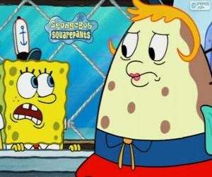 SpongeBob and Mrs. Puff puzzle