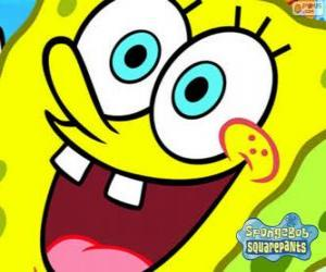 SpongeBob is the hero of the adventures in Bikini Bottom puzzle