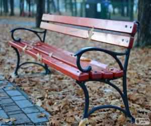 A bench in autumn puzzle