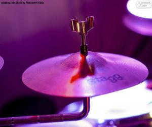 A drum cymbal puzzle