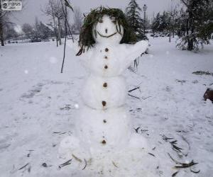 A fun snowman puzzle