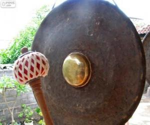 A gong, percussion instrument puzzle