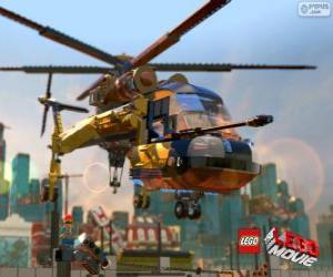 A helicopter from the movie Lego puzzle