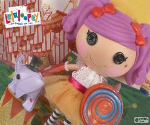 A Lalaloopsy doll, Peanut Big Top with her pet, an elephant puzzle