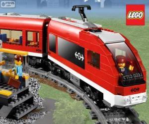 A Lego train puzzle