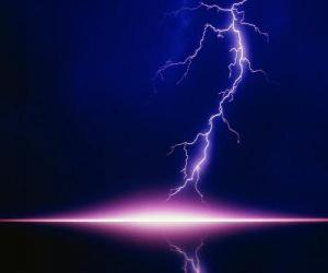 A lightning flash coming out of a cloud puzzle