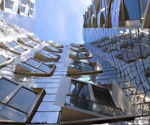 A modern building facade puzzle
