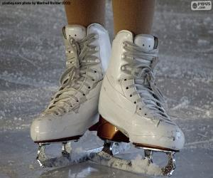 A pair of ice skates for figure skating puzzle