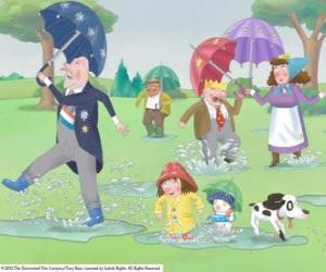 A rainy day in the Kingdom of the Little Princess puzzle