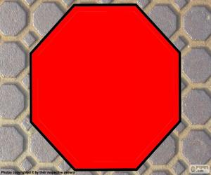 A regular Octagon, polygon with eight sides puzzle