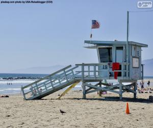 A relief and surveillance post on the beach puzzle