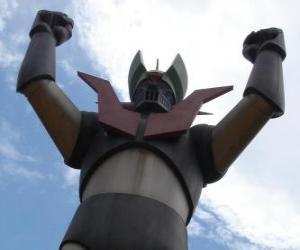 A statue of Mazinger Z puzzle