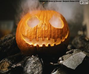 A steaming Halloween Pumpkin puzzle