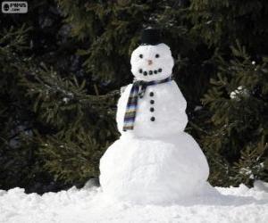 A stylish snowman puzzle