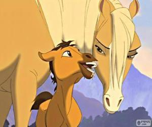 A tender scene of the movie Spirit, Stallion of the Cimarron puzzle
