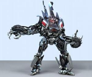 A transformer, an intelligent robot. The transformers puzzle