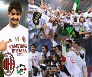 AC Milan, Italian Football League champion - Lega Calcio 2010-11 puzzle