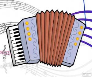 Accordion, drawing puzzle