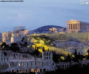 Acropolis of Athens, Greece puzzle