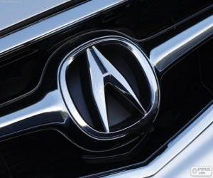 Acura logo, Japanese car brand puzzle