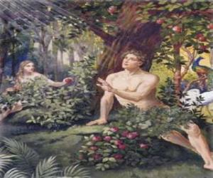 Adam and Eve in paradise puzzle