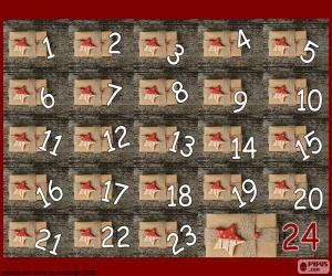 Advent calendar gifts puzzle