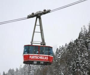 Aerial tramway or cable car puzzle