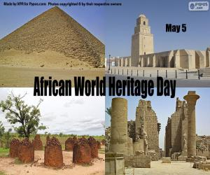 African World Heritage Day puzzle