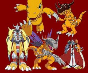 Agumon is one of the main Digimon. Agumon is a very brave and fun Digimon puzzle
