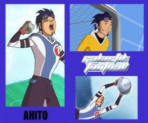 Ahito is the goalkeeper of the football team Galactic Snow Kids with number 1 puzzle