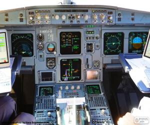Aircraft cabin cockpit puzzle