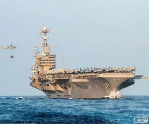 Aircraft carrier is a warship capable of carrying and operating aircraft puzzle