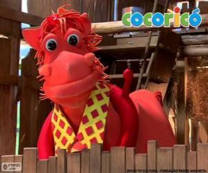 Alípio, the elegant horse from Cocoricó farm puzzle