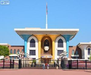 Al Alam Palace, Muscat, Oman puzzle