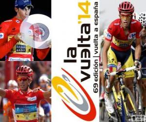 Alberto Contador, champion of the Tour of Spain 2014 puzzle